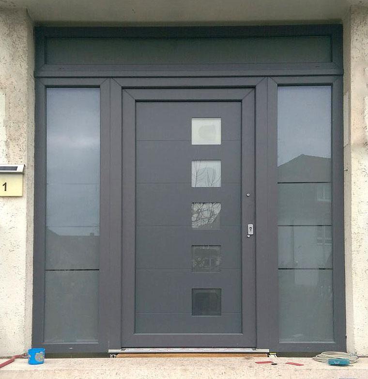 Eingangstür eingangstür pvc ideal 4000 blau fenster und türen aus polen pvc